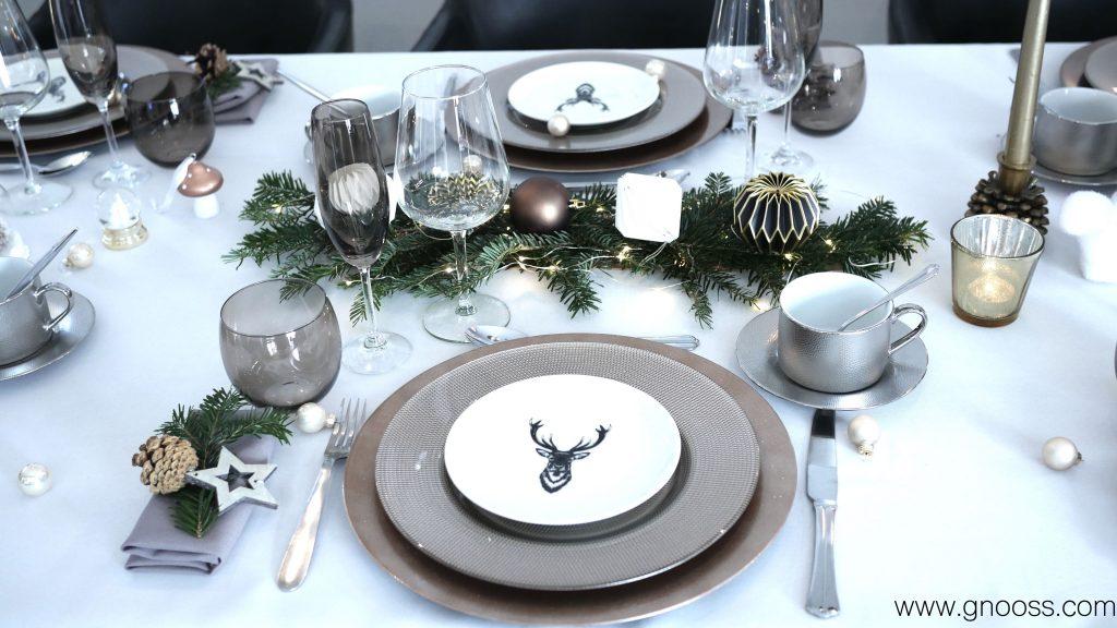 Tuto de Noël table fêtes centre de table GNOOSS