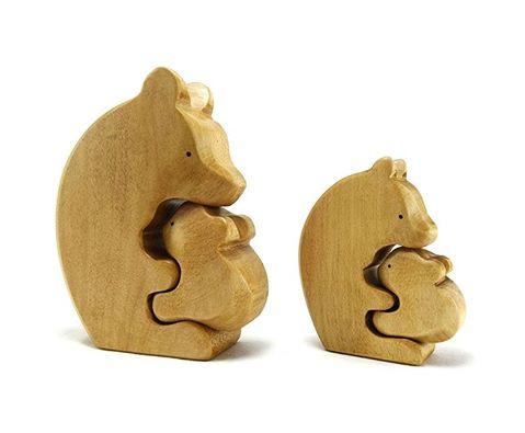 jouets en bois-brin d ours- jouets bois- biches - cerfs - gnooss