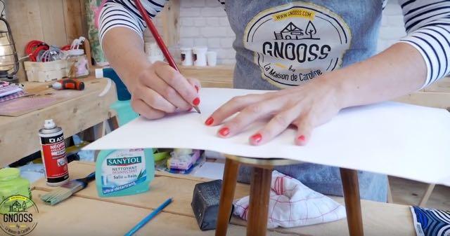 DIY WAX table vintage papier gnooss