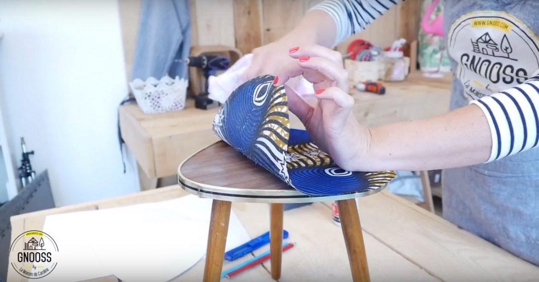 Diy Relooking Table Vintage Avec Tissus Wax Gnooss